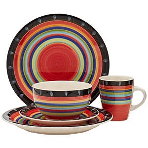 7. Gibson Home Casa Stella Dinnerware Set