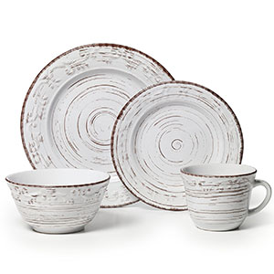 10. Pfaltzgraff Trellis Stoneware Dinnerware Set of 16 Pieces