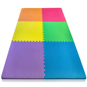 9. Sivan Health and Fitness Colorful Puzzle Exercise Mat