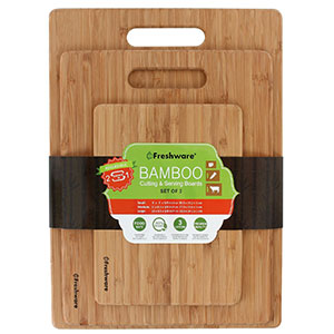 4. Freshware Set of 3 Bamboo Cutting Boards