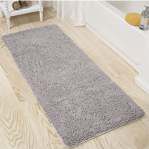 7. Lavish Home Shag Bath Mat