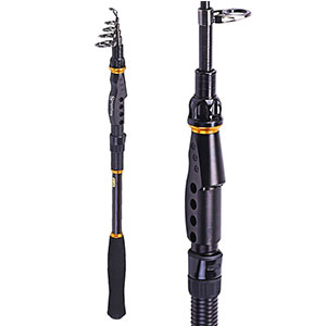 1. Sougayilang Graphite Carbon Telescopic Fishing Rod