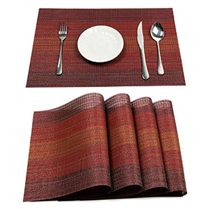 2. Pauwer Placemat Set for Dining Table