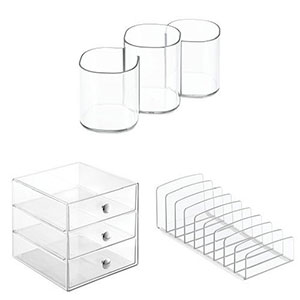 10. InerDesign Countertop and Vanity Organizer Set