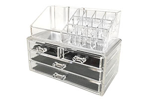 Clear Plastic Makeup Holder